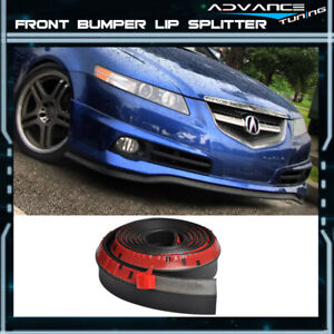 100 Inch For Acura Front Lip Splitter Body Spoiler Valance Chin Ez To Install