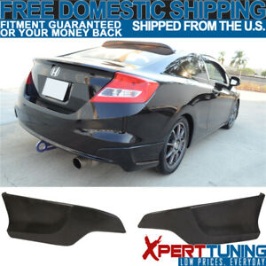 Fit 12 13 Civic Hf p Style Rear Bumper Lip Unpainted Pu