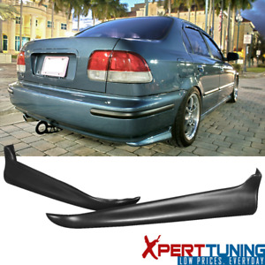 Fits Honda Civic 96 98 2 4 Dr Pu 2pc Rear Bumper Lip Spoiler Valance Spats