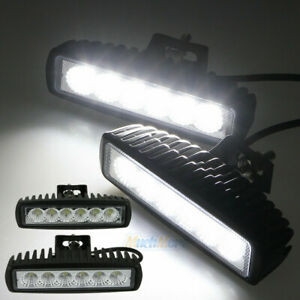 2pcs 6inch 18w Led Work Light Bar Flood Driving Lights Offroad Fog 4wd Boat Ute