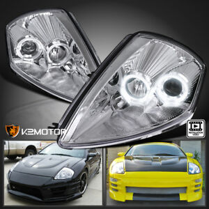 2000 2005 Mitsubishi Eclipse Chrome Dual Halo Projector Headlights