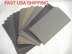 16pc 3 X 5 1 2 Wet Dry Sandpaper 2500 2000 1500 1200 1000 800 600 400 Grit