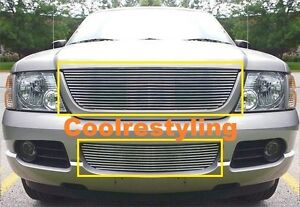 For 02 03 04 05 Ford Explorer Billet Grille Grill Combo Inserts 2002 2005