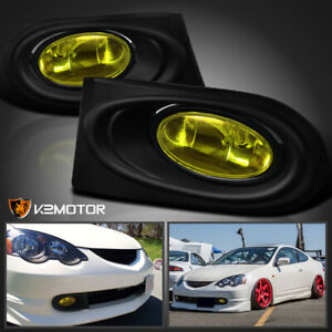 2002 2004 Acura Rsx Dc5 Jdm Yellow Bumper Fog Lights Switch