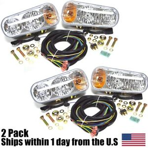 2 Universal Halogen Snow Plow Lights Fits Boss Western Blizzard Curtis Meyer