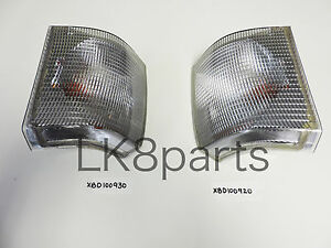 Land Rover Range P38 Front Turn Signal Light Lamp Lh Rh Set Xbd100920 Xbd100930