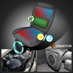 Fit 3in1 Cooling Fan Massager Heated Seat Cover Cushion Remote Control Car Truck