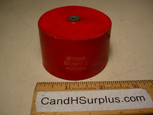 Sprague Hv Doorknob Capacitor 720c 1800pf 40kvdc For Tesla Coil
