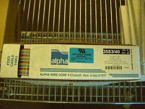 100 Feet 3583 40 Mc005 Alpha Wire Flat Cable 40cond 28awg 300v