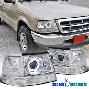 For 1998 2000 Ford Ranger Halo Projector Headlights corner Signal Lamps