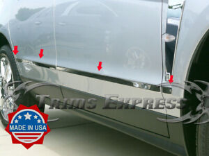 2010 2016 Cadillac Srx 8pc Chrome Lower Body Side Molding Trim Stainless Steel