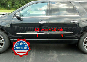 2007 2016 Gmc Acadia 2009 2017 Traverse Flat Body Side Molding Trim 4pc 1 2