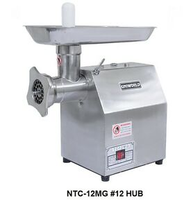 Uniworld S s Commercial Meat Grinder W 250 Lbs Per Hour Cap Ce Approved Ntc 12mg