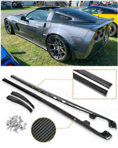 Zr1 Carbon Fiber Side Skirts Rocker Panels Body Kit For 05 13 Corvette C6 Z06