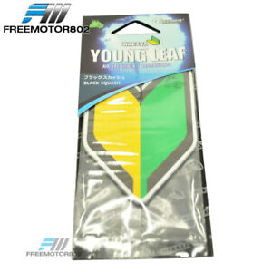 Treefrog Wakaba Young Leaf Black Squash Japanese Air Freshener Jdm Car Auto