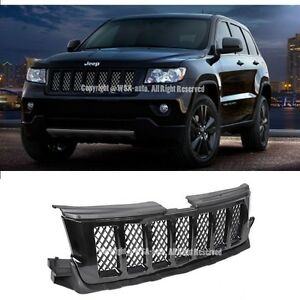 For 11 13 Jeep Grand Cherokee Black Mesh Front Conversion Bumper Hood Grille