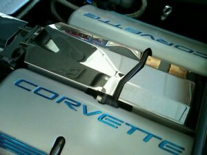 Corvette C6 2005 2007 Ls2 Polished Stainless 2 Pc Intake Manifold Cover Chrome