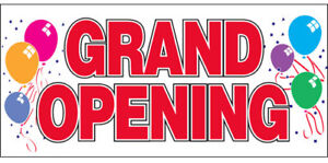 20x48 Inch Grand Opening Vinyl Banner Sign Balloons Rw