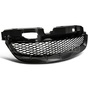 For 2004 2005 Honda Civic 2dr Coupe T R Style Matte Black Jdm Mesh Grill Grille