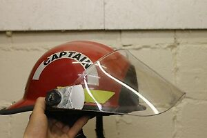 Fireman Firefighter Bullard Firedome Px Series Hat Helmet Red