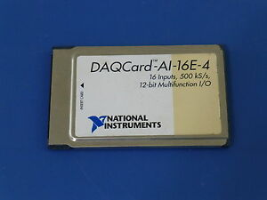 National Instruments Daqcard ai 16e 4 Pcmcia Ni Daq Card Analog Input