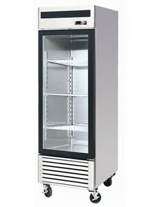 Chefsfirst Glass 1 Door Upright Reach in Commercial Refrigerator