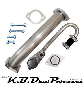 Egr Bypass Block Off Delete Kit W Turbo Up Pipe Ford Powerstroke 6 0l 2003 2007