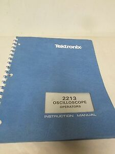 Tektronix 2213 Oscilloscope Operators Instruction Manual