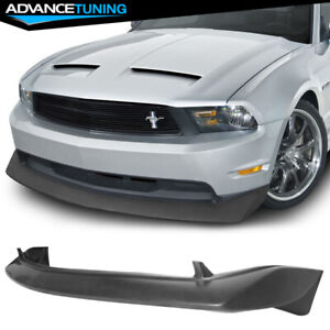 For 10 12 Ford Mustang Gt V8 Type b Pu Front Bumper Lip Spoiler Unpainted Black