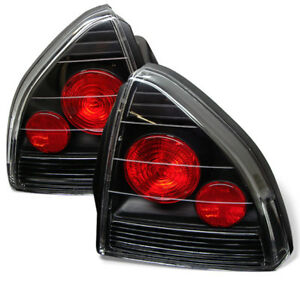 Fit Honda 92 96 Prelude Black Euro Style Rear Tail Lights Lamp Si S 4ws V tec