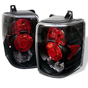 Jeep 93 98 Grand Cherokee Black Euro Style Rear Tail Lights Brake Lamp Set