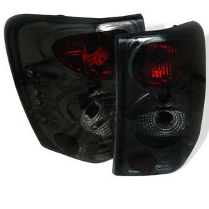 Fit Jeep 99 04 Grand Cherokee Smoke Euro Style Rear Tail Lights Brake Lamp Set