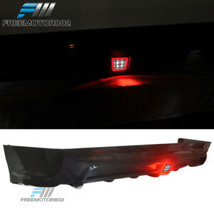 Fit 06 11 Honda Civic Mug Rr Rear Bumper Lip Diffuser Pp Spoiler Led Brake Light