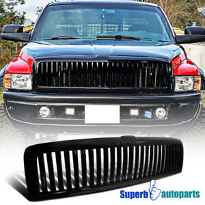 1994 2001 Dodge Ram 1500 2500 3500 Abs Vertical Front Hood Grille Black
