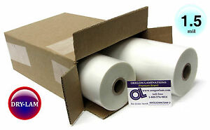 School lam Hot Laminating Roll Film 12 inch X 500 On 1 Core 1 4 Mil pk Of 2