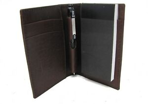 Brown Leather Note Jotter Pad a7 Style With Pen Pad That Can Be Personalised