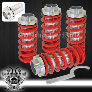 93 97 Toyota Corolla Dx Le Scale Lower Coil Over Spring Red Aluminum Sleeves