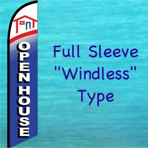 Open House Windless Feather Flag Swooper Flutter Banner Tall Advertising Sign