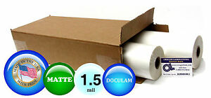 Doculam Hot Laminating Film 18 X 500 On 1 Core 1 5 Mil 4 Rolls Matte