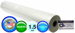 Doculam Hot Laminating Film 27 X 500 On 1 Core 1 5 Mil 1 Roll Matte