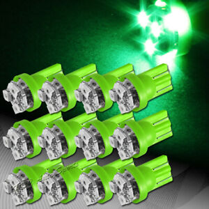 12x 3 Smd Led T10 Wedge Interior Instrument Panel Gauge Replacement Bulb Green