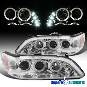 For 1998 2002 Honda Accord Led Dual Halo Projector Headlights