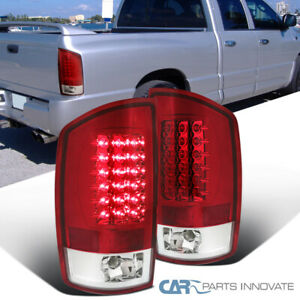 2002 2006 Dodge Ram 1500 2500 3500 Pickup Red Clear Led Tail Lights Rear Lamps