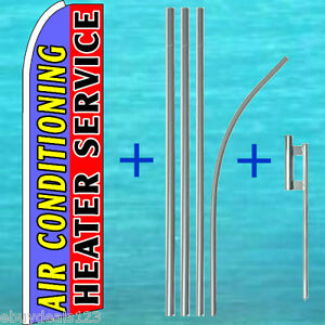 Air Conditioning Heater Service Flutter Feather Flag Pole Kit Swooper Banner