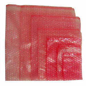 750 X Bp1 Bubble Wrap Poly Bags Anti static With Self Seal Flap Size 100 X 135mm