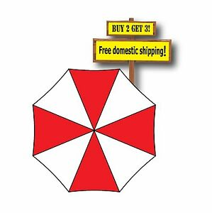Umbrella Corporation Bio Hazard Zombie Outbreak Resident Evil Decal Sticker Car