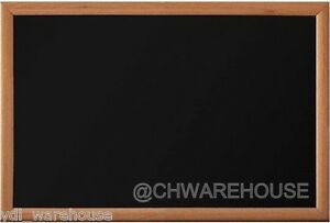 18 X 24 Woodwell Magnetic Black Chalk Board Light Frame Reinforced Backing