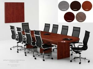 24 Foot Expandable Conference Table And 22 High Back Chairs 5 Modern Colors
