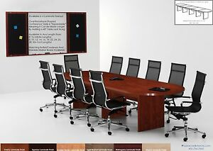 22 Foot Conference Table And 20 Chairs Set 6 Colors Brown Black White Chairs