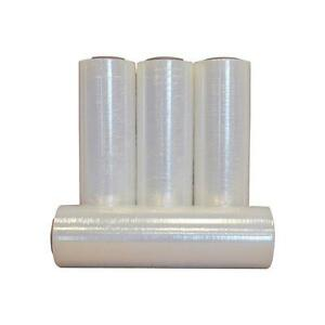 18 X 1500 80 Gauge 4 Rolls Pallet Wrap Stretch Film Hand Shrink Wrap 18x1500